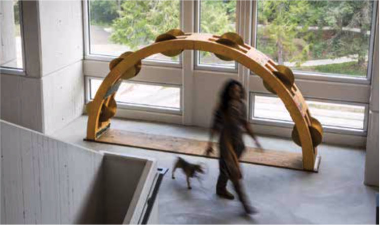 Tambourine Sculpture by Carol Rashawnna Williams '97